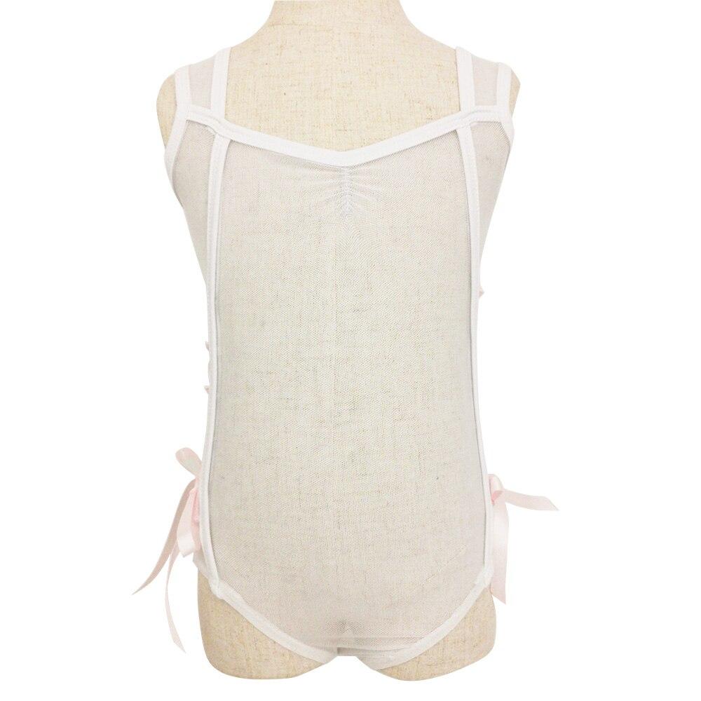 Новый прозрачный белый купальник с розовой лентой с обеих сторон для сексуальной куклы|Балет|   | АлиЭкспресс