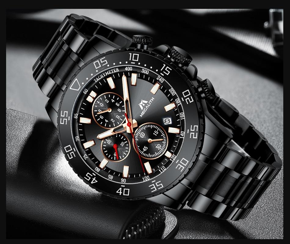 H9972c1fec50b4417b4da79a24fc6b171f MEGALITH Watches Mens Waterproof Analogue Clock Fashion Stainless Steel Waterproof Luminous Watch Men Sports Relogio Masculino