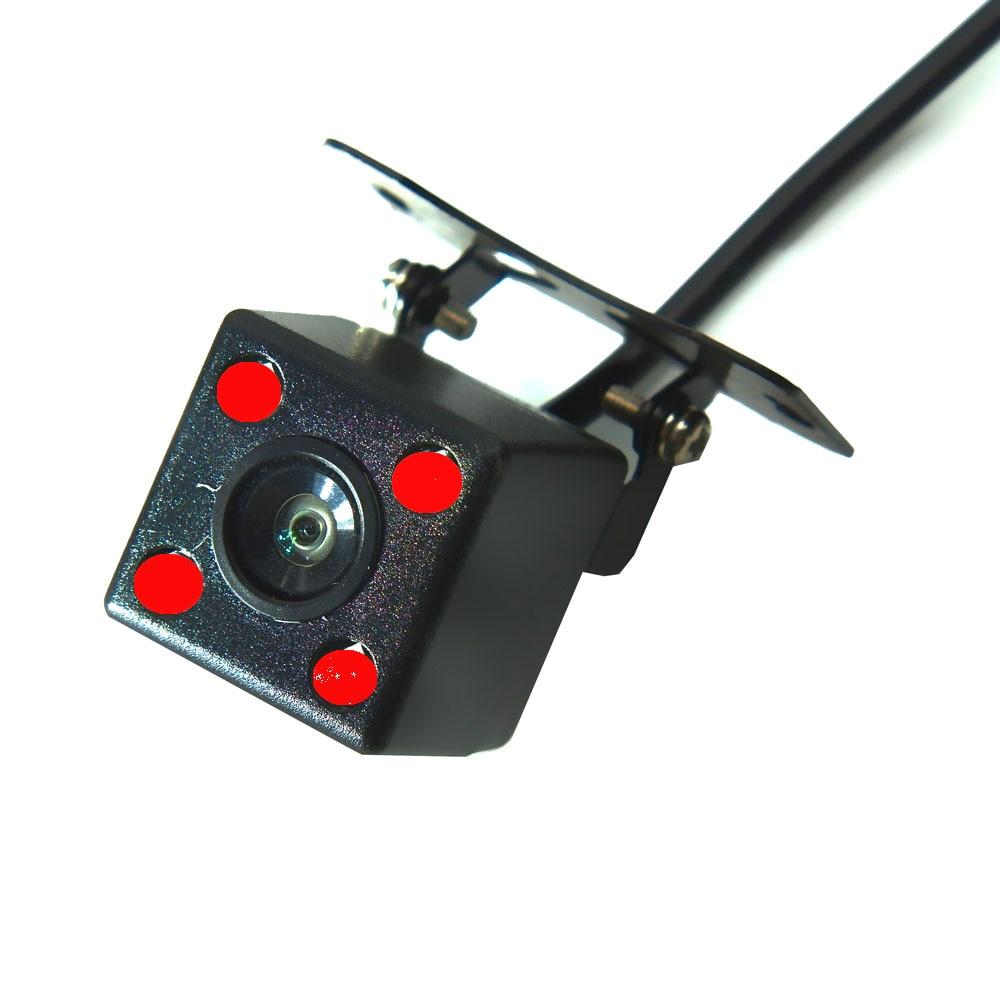 BYNCG Автомобильная камера заднего вида Универсальная 12 Светодиодный ночного видения дублирующая для парковки заднего вида камера Водонепроницаемая 170 широкоугольная HD цветное изображение - Название цвета: Розовый