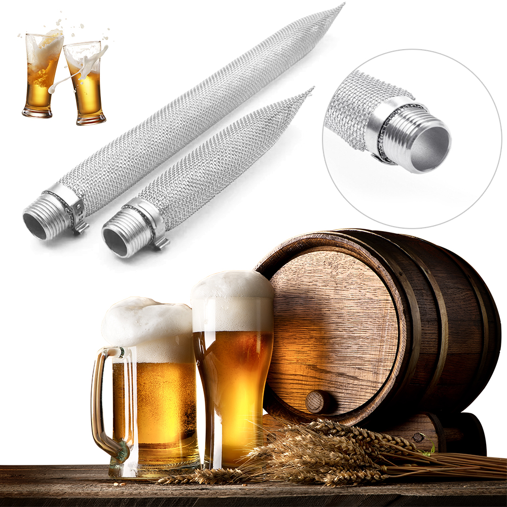 6/12 Inch Stainless Steel 304 Bazooka Screen 1/2'' NPT For Hop Spider Beer Homebrew Kettle Mash Tun/Mesh Filter Beer Brewing