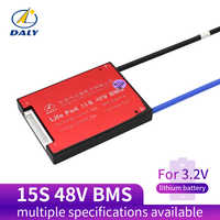 Daly 3.2V 48v LifePo4 15S bms 48V 20A 30A 40A 60A 18650 PCM battery protection board BMS with balanced lithium battery module