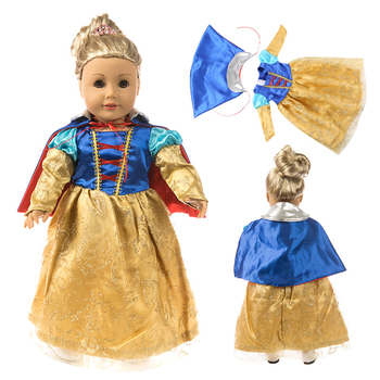 Fit 18 inch American Doll Girl Clothes Born New Baby 43cm Doll Snow White  Accessories For Baby Birthday Gift baby born doll clothes toys white polka dots dress fit 18 inches baby born 43 cm doll accessories gc18 36