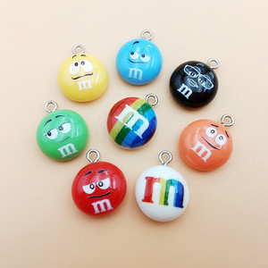 20pcs/pack Chocolate Beans Resin Charms Cute Pendant Earring DIY Fashion Jewelry Accessories SO CUTE