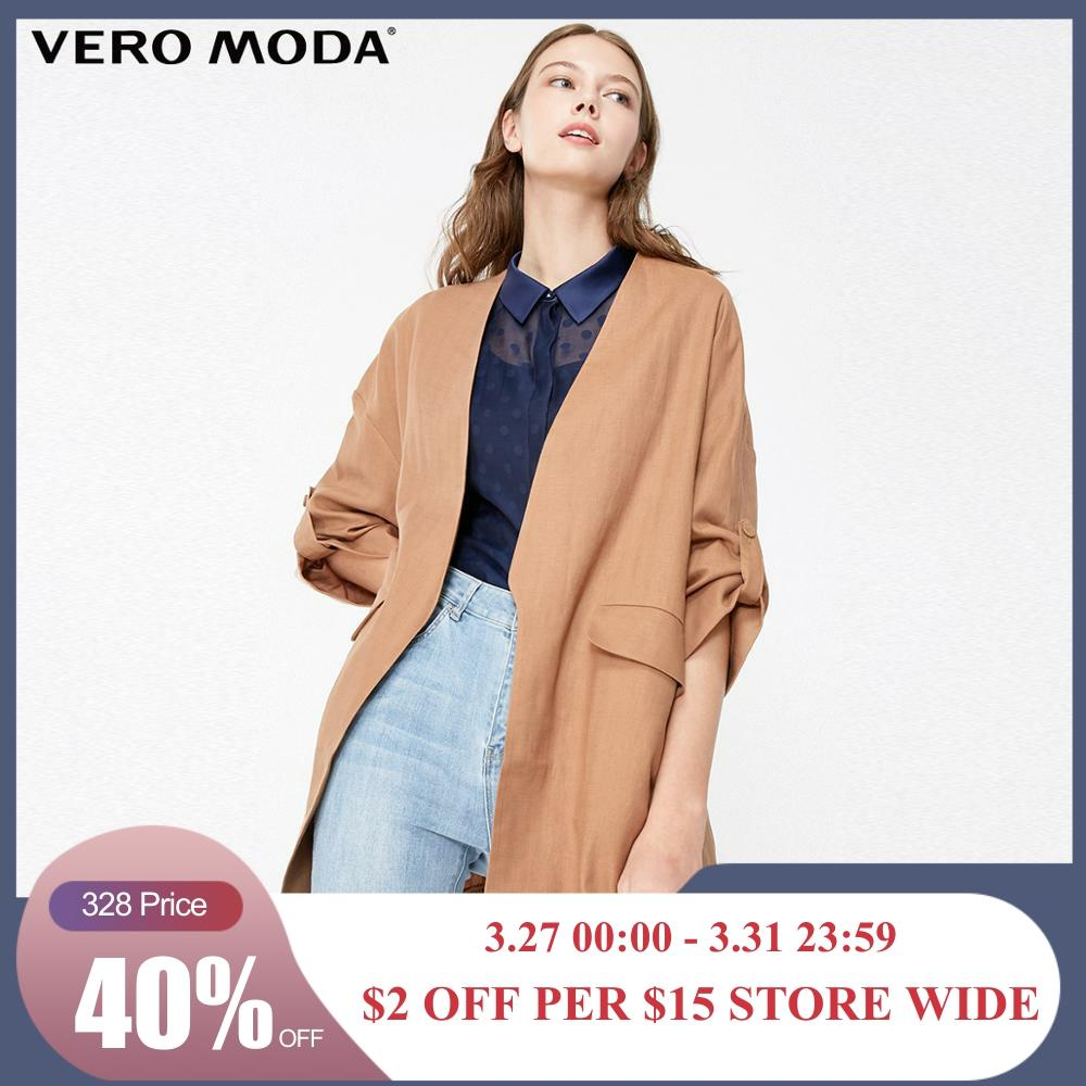 Vero Moda Women's Minimalist OL Style Thin 3/4 Sleeves Trench Coat | 319108525