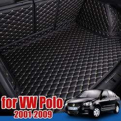 Car Boot Tray Floor Protector for Volkswagen VW Polo Vivo Mk4 Sedan 2001-2009 Cargo Liner Boot Carpet Pad 2005 2006 2007 2008