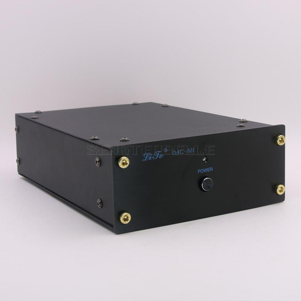 DAC-AH HiFi TDA1543 DAC Audio Decoder Hi-end Digital Analog Adapter Coaxial+Fiber Input