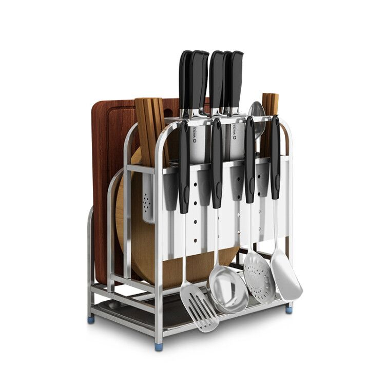 Stainless Steel Knife Holder Kitchen Supplies Rack Storage Rack Cutting Board Cutting Board Frame Wall Hanging WF4251714