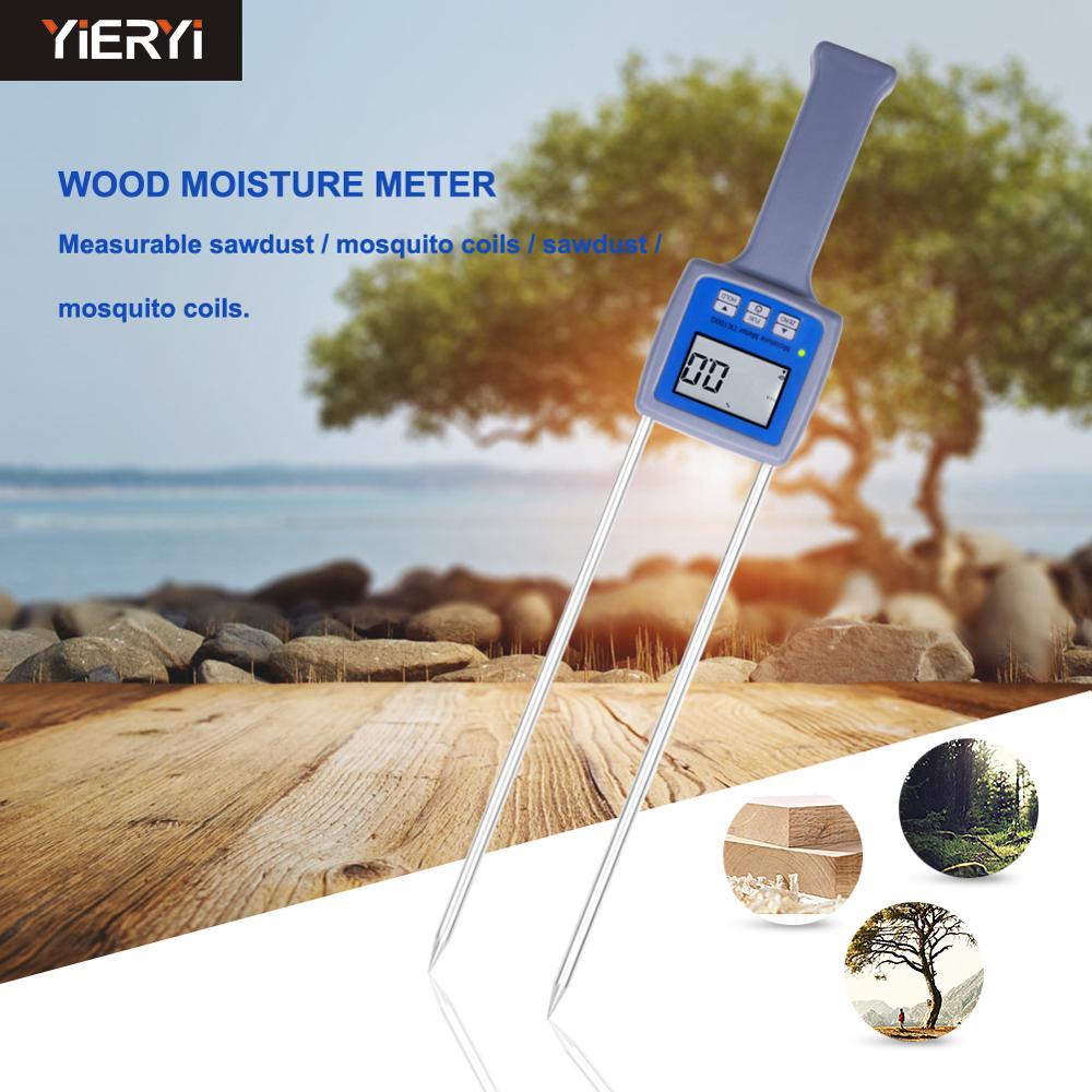 Bois sciure poudre compteur Hay Bale bambou Poudre Fibre Testeur Humidité TK100W
