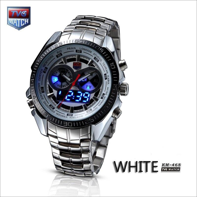 TVG Neue Trendy männer Sport Uhr Mode Blau Binary LED Pointer Uhr Herren Tauchen Wasserdichte Uhr Männer Digitale Uhr armee Uhr