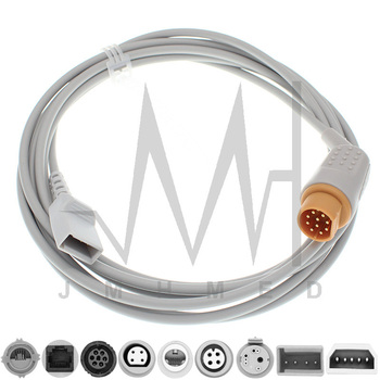 Compatible with 10pin Drager Monitor IBP Cable and Argon Philips BD Edward Medex Abbott Smith PVB Utah Pressure Transducers image