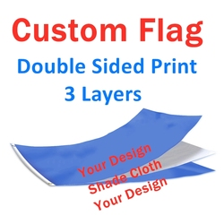 Custom Flag Double Sided 3 Layers Banner Printing 3x5 FT Polyester Advertising Sports Decoration Company Logo Free Shipping