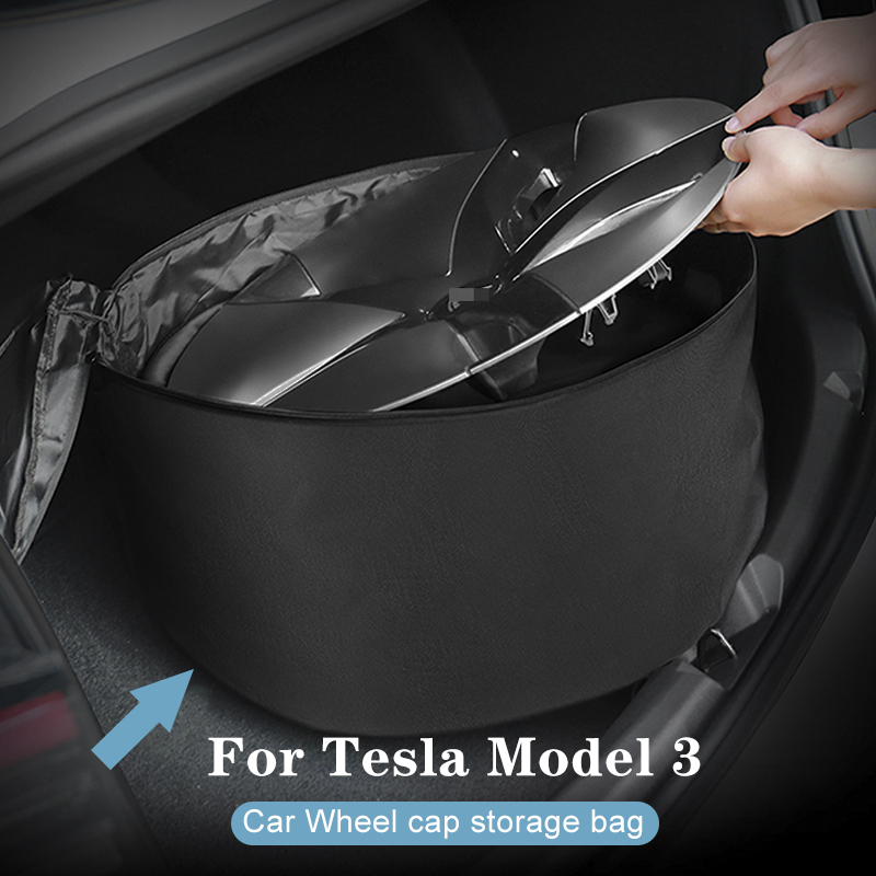 SPEEDWOW 1pcs/set Wheel Cap Storage Bag Car Portable Carrying Oxford Storage Bag For Tesla Model 3 Car Accessories(China)