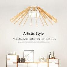 white modern LED new wood ceiling lights Fixture for loft dining Living Room Bedroom ceiling lamp Design Art Creative lighting
