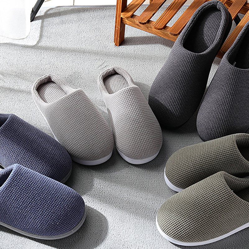 Winter Home Slippers Men Leisure Indoor Winter Shoes Men Non-slip Breathable Warm Cotton Slippers Man Floor Shoes Large Size 47