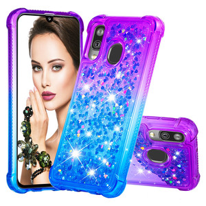 Image 2 - Fashion Phone Cases for Samsung Galaxy Note 10 Pro/Plus Note 10 Case for A40 A20e A10e Glitter Hearts Liquid Soft TPU Back Cover