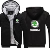 M 5XL plus Velvet Thicken male for Skoda Sweatshirt men Winter coat Plus Size 5 colours jackets