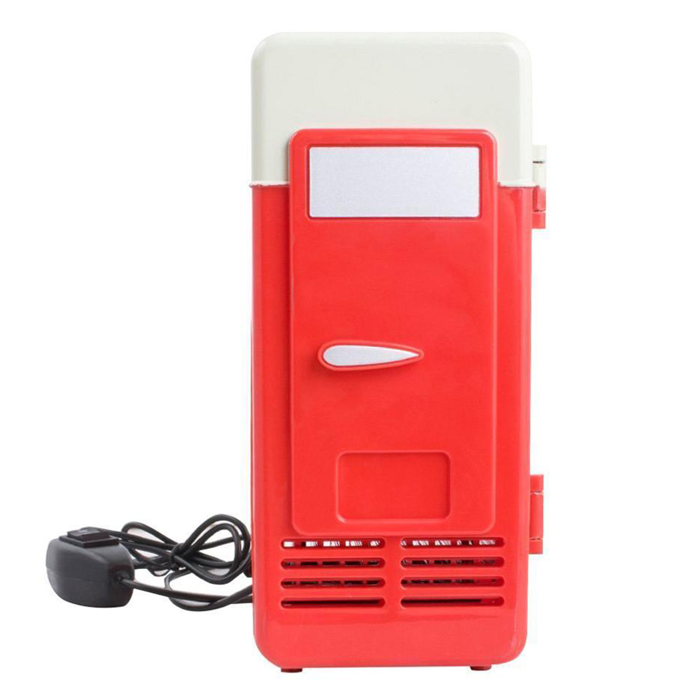 Refrigerator Mini Freezer Cooler Fridge Portable Single PC USB Car Cans Drink title=