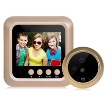 2.4Inch Lcd Color Screen 160 Degrees Ir Night Door Peephole Camera Photo/Video Recording Digital Door Camera(China)