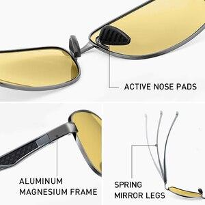 Image 5 - CAPONI כיכר גברים משקפי שמש מקוטב Photochromic שמש יום משקפיים ראיית לילה נהיגה בציר משקפיים UV400 BSYS7755
