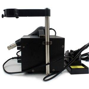 Image 4 - Elektrikli havya Rework istasyonu sıcak hava kaynak aracı standı kurutma tutucu hava aracı destek Fit Saike 952D 852D lehim