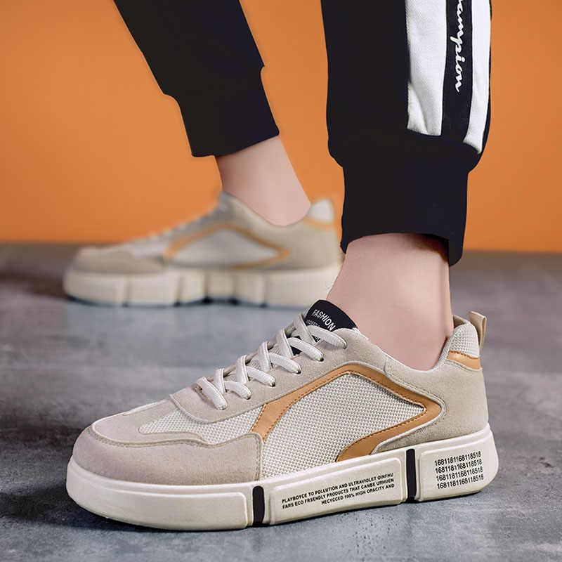2020 caliente casuales de los hombres vans zapatos para hombres zapatillas de deporte Tenis Masculino transpirable Krasovki de encaje zapatos de los