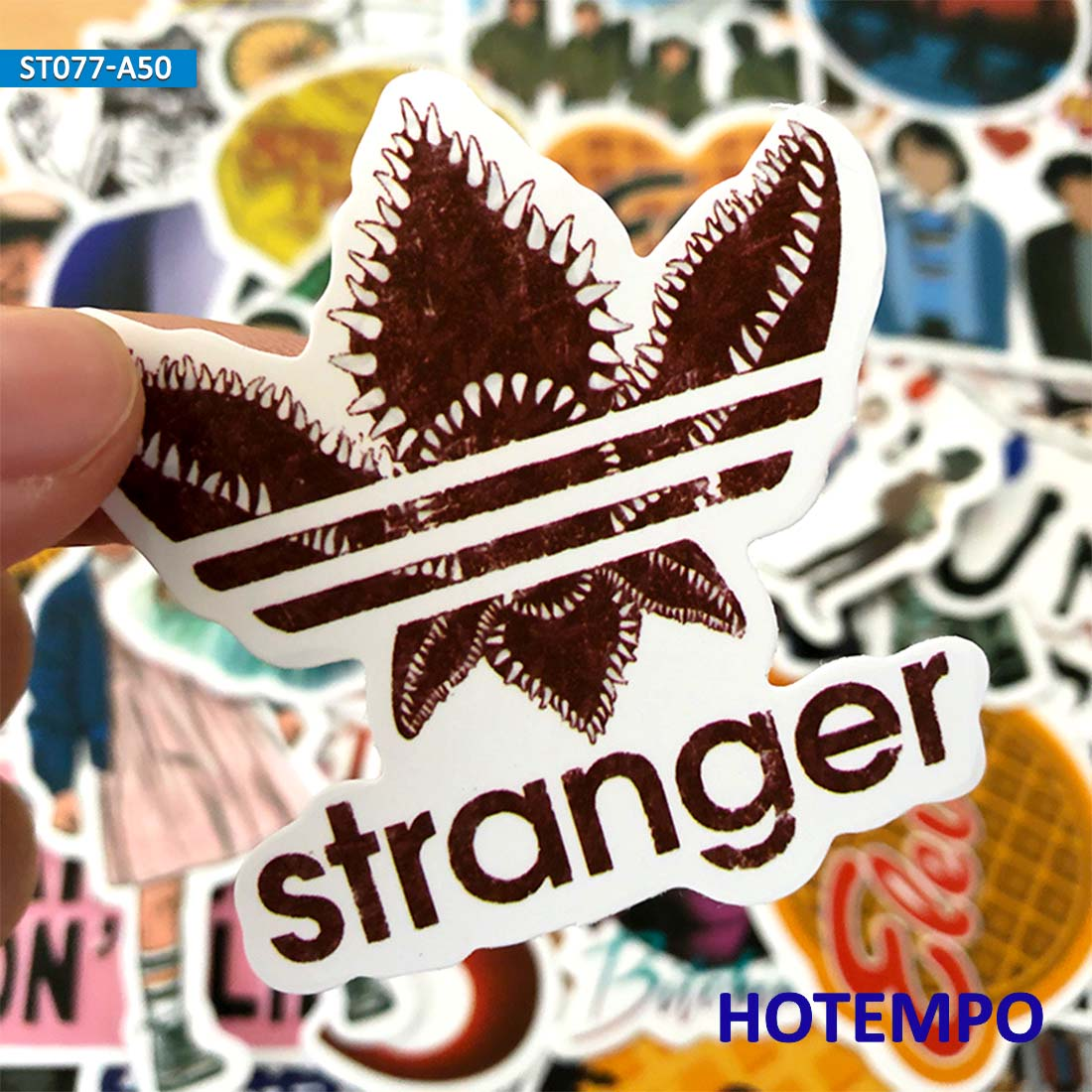 50pcs Stranger Things US TV Style Stickers For Mobile Phone Laptop Luggage Guitar Case Suitcase Skateboard Helmet Decal Stickers