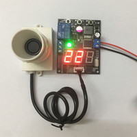 With Display Small angle Ultrasonic sensor module 10 30V relay output Distance measuring module Adjustable range 1cm 600cm