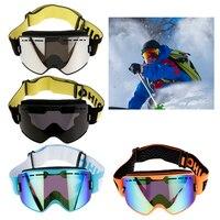 Profissional adulto snowboard esqui ciclismo óculos anti nevoeiro proteção uv dupla lente camadas espuma-várias cores