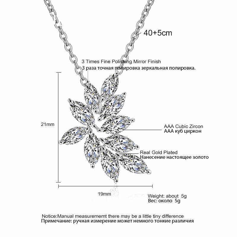ZAKOL ประณีตคุณภาพสูง Zirconia ดอกไม้หวานสร้อยคอจี้สำหรับเครื่องประดับคู่เจ้าสาวงานเลี้ยงอาหารค่ำวันเกิดของขวัญ FSNP2132