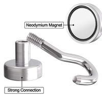 Hot Sale Magnetic Hooks Heavy Duty Neodymium Hanging Mighty Magnetic Hooks D16 (10 Packs)|Hooks & Rails|   -