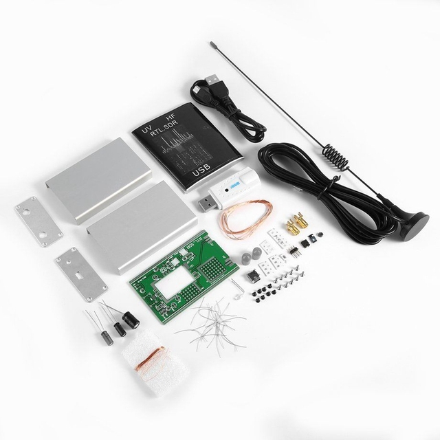 Приемник тюнер USB 100 кГц 1,7 ГГц с УФ частотой HF, с антенной U/V, комплекты для самостоятельной сборки