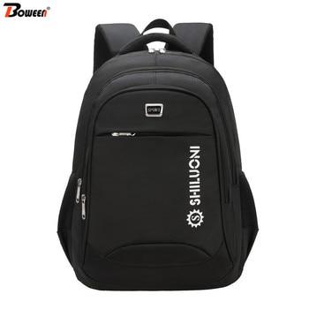 Teen Middle High School Backpack Men School Bags for Boys Teenage Student Bookbag Big Capacity Waterproof Nylon Black Schoolbag