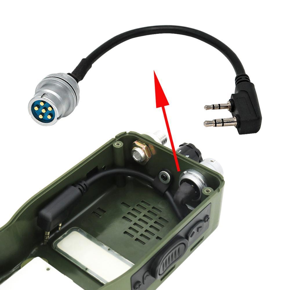 AN/PRC 148 152 152A Walkie-talkie DIY Connector U-283/U 6-pin Plug To Kenwod Socket Adapter