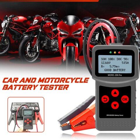 New Alternator Tester Motorcycle Battery Tester Motorbike Car Battery Tester for Lancol Voltage Test Automotive for 12V