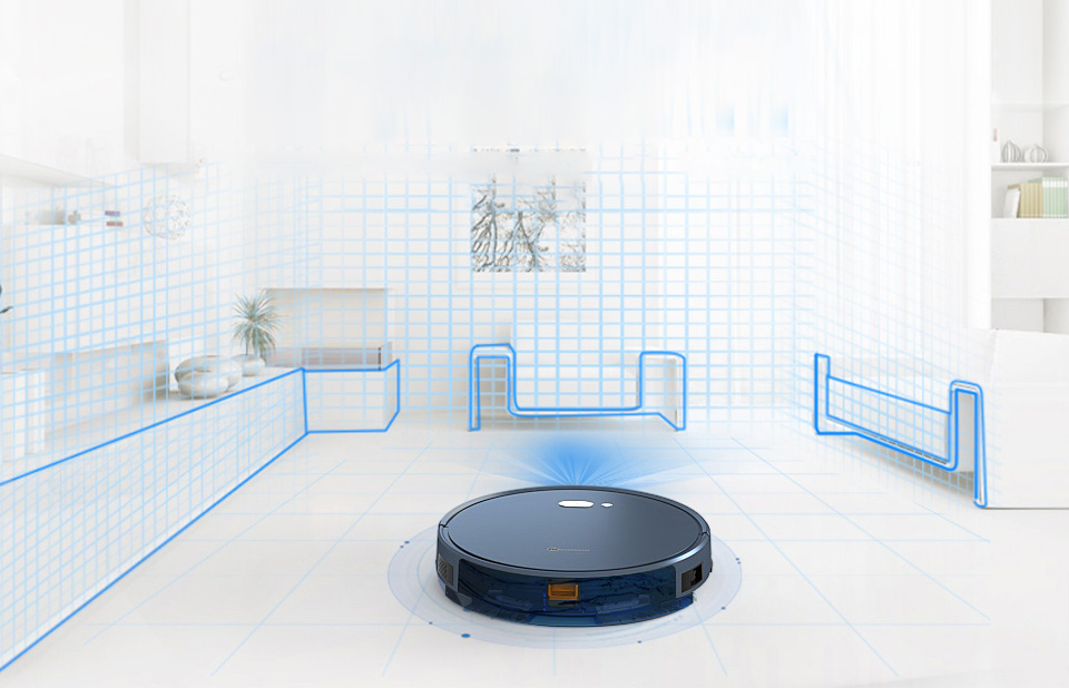 H9975965badd94140be4f449eb75424edL NEATSVOR X500 Robot Vacuum Cleaner 1800PA Poweful Suction 3in1 pet hair home dry wet mopping cleaning robot Auto Charge vacuum