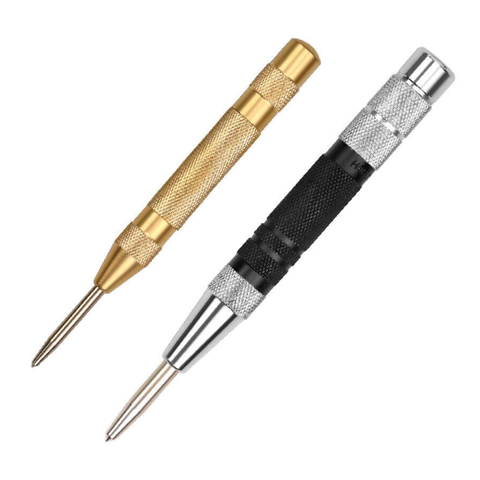 2 шт. Прочный Автоматический кернер, регулируемый пружинный металлический сверлильный инструмент