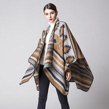 Moda primavera y otoño mujeres Ponchos chal suelto viaje aire acondicionado manta señoras capas Vintage grueso bufandas mujeres