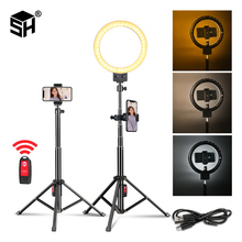 Get more info on the 9inch 23cm Stepless Dimmable LED Selfie Ring Light for Youtube Video Makeup Beauty Light Photo Studio Continuous Lighting Live