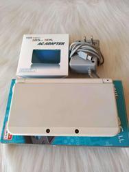 حقيقي 3DS 32 جيجابايت وحدة تحكم بجهاز لعب محمول جديد 3DSXL كامل ألعاب الحرة حقيبة التخزين ، كريستال كيس ، شريط للرسغ ، قارئ بطاقات ، فيلم خفف
