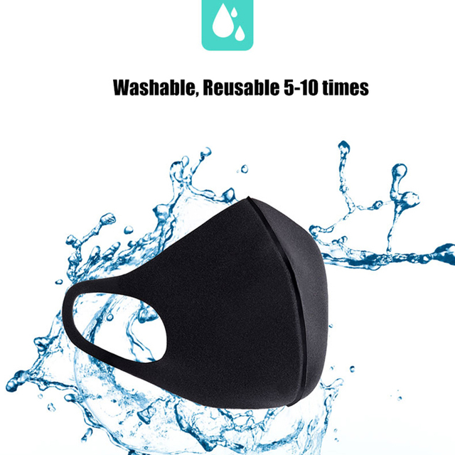 10PCS Kids Dust-proof PM2.5 Mouth Mask  PU Sponge Washable Mouth Cover for Children Breathable Respirator Face Mouth Masks 5