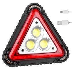 Przenośna trójkątna funkcja 3 Cob lampa led do pracy Usb ładowanie światło ostrzegawcze do ruchu drogowego na zewnątrz Camping Flood Searchlight w Zewnętrzne narzędzia od Sport i rozrywka na