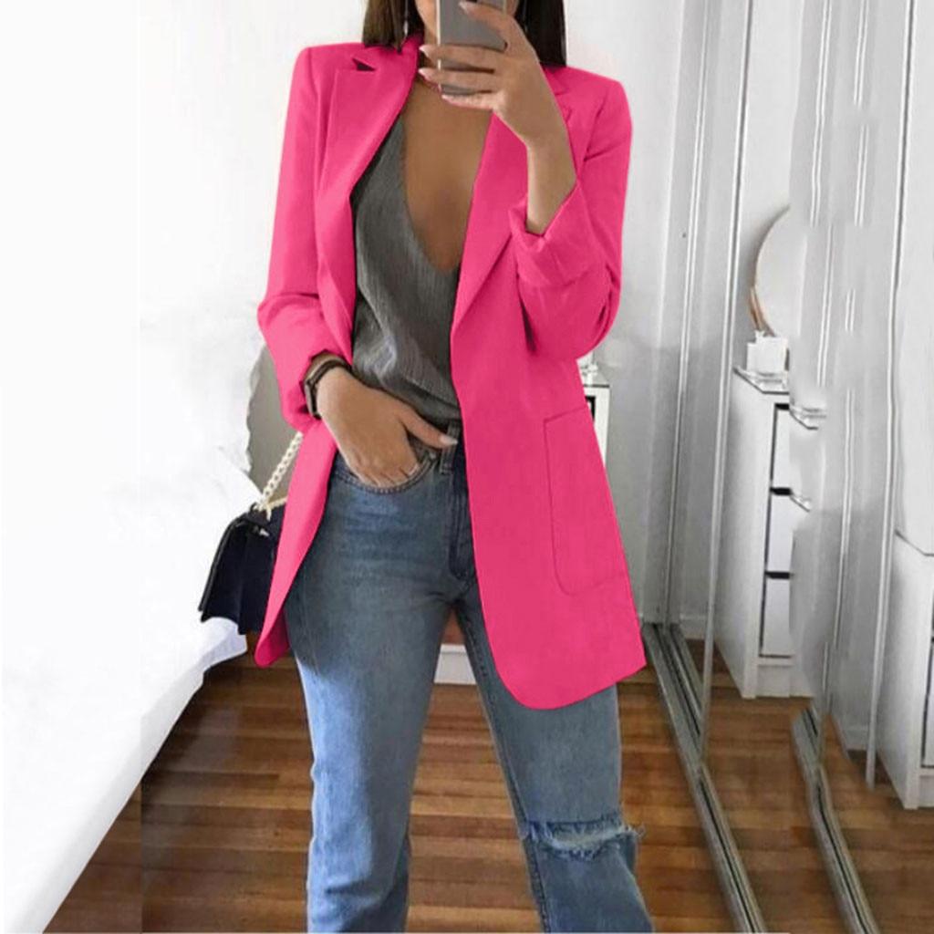 FEITONG Women Jacket Autumn Winter Long Sleeve Office Coat Cardigans Suit Long Jacket Veste Femme Jaqueta Feminina