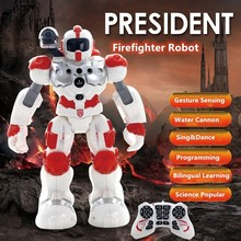 Intelligent Programming RC Robot Gesture Sensing Water Spray Launching Missiles Singing And Dancing Remote Control Robot Toys(China)
