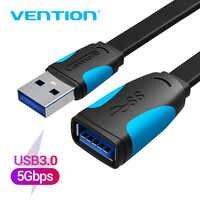 Vention-Cable extensor USB 3,0 de macho a hembra, accesorio electrónico acelerador de velocidad, extensible para PC y portátil, 2.0