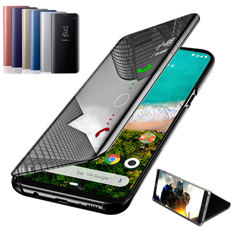 Mirror Case For Xiaomi Mi A3 Flip Phone Case For Xiaomi Mi 8 9 9SE A2 A3 Lite Pocophone F1 CC9E Mi9 A3lite Fundas Cover Coque