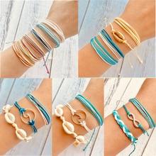 17KM Bohemian Rope Bracelets Set For Woman Men Lovers 2019 INS Adjustable Multilayer Bracelet Friendship Fashion Jewelry Gifts