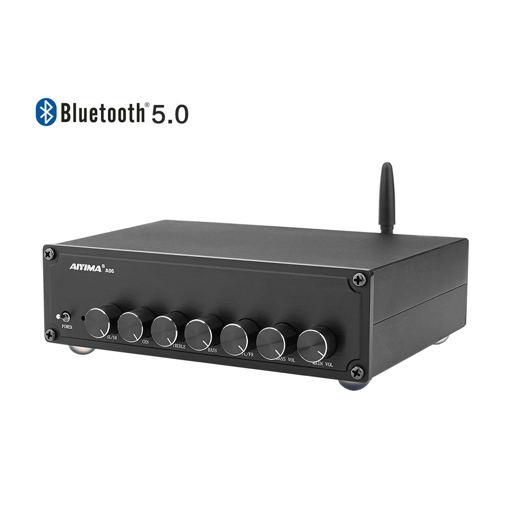 AIYIMA 5.0 Bluetooth TPA3116 Power Sound Amplifier 5.1 Amplifiers Subwoofer Amplifier Surround 100W+50Wx5 Audio Amp Home Theater