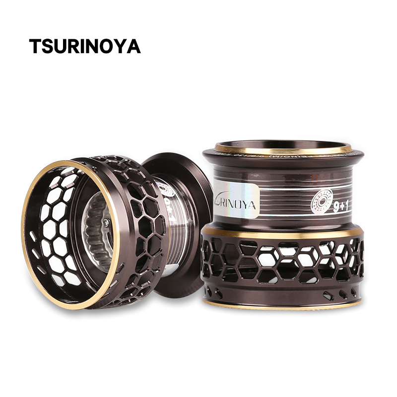 TSURINOYA Fishing Reel Jaguar 4000 5000 Spare Spool Handle Drag Knob Spare Parts Accessories For Repair Deep Shallow Spool