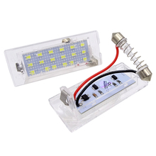JIUWAN 1 Pair Car License Plate Lights Error Free OBD LED Lamp 18LED for BMW X3 E83 E53 X5