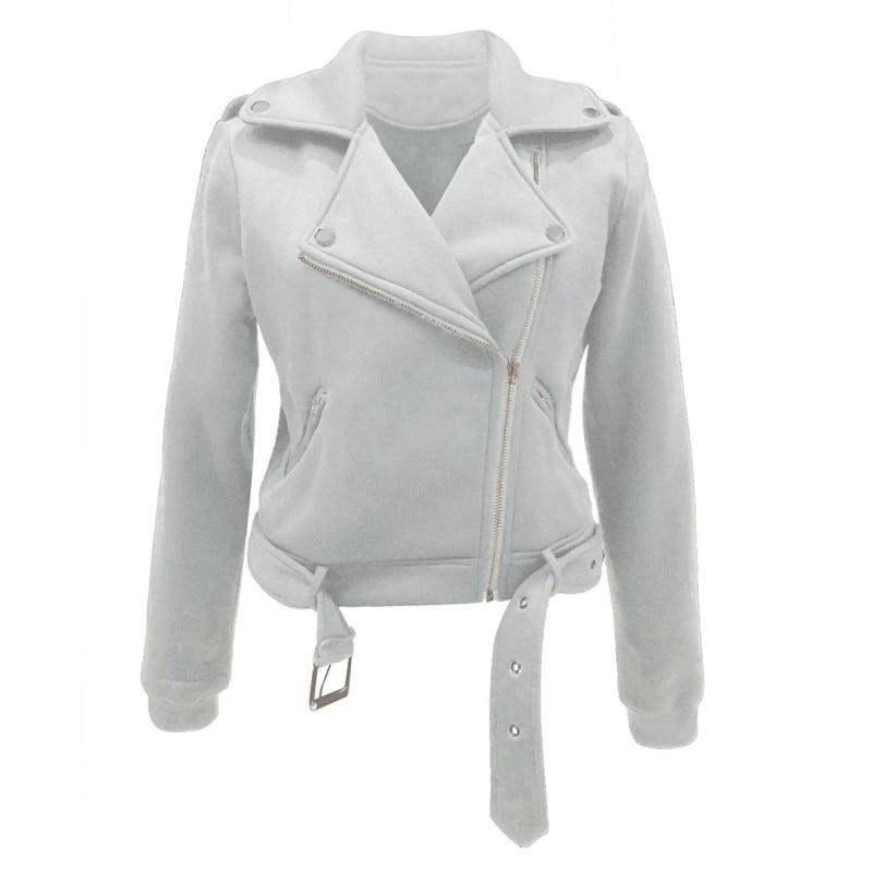Womens Hooded Leather Jacket Motorcycle Jacket Coat Bomber Biker Outwear HOt New